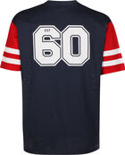 NFL Contrast Sleeve Oversized New England Patriots