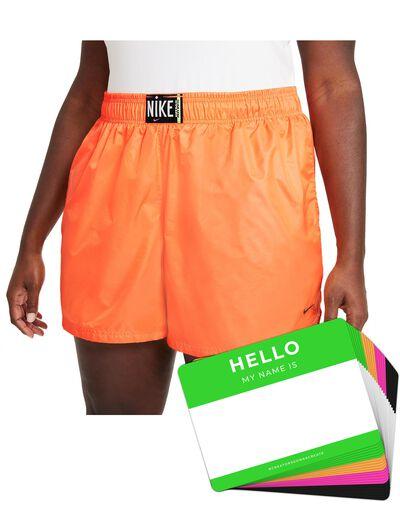 Nike Wash Shorts Woven + HELLO Neon-Stickerpack   Orange Pack