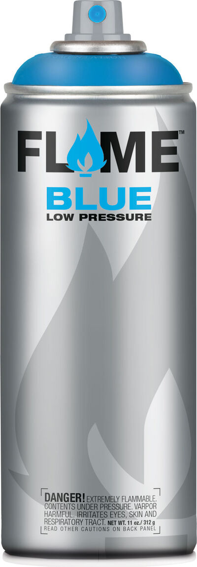 Flame Blue 400 ml Transparent