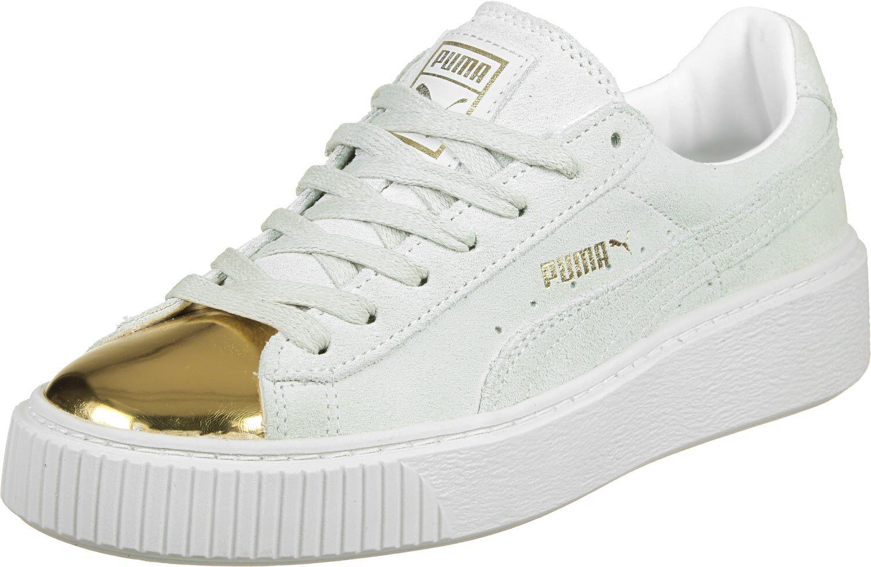 Suede Platform Gold W Baskets low Femmes chez Stylefile
