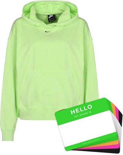 Nike Wash Hoodie + HELLO Neon-Stickerpack   Green Pack