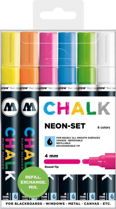 Chalk 4 mm Neon Set