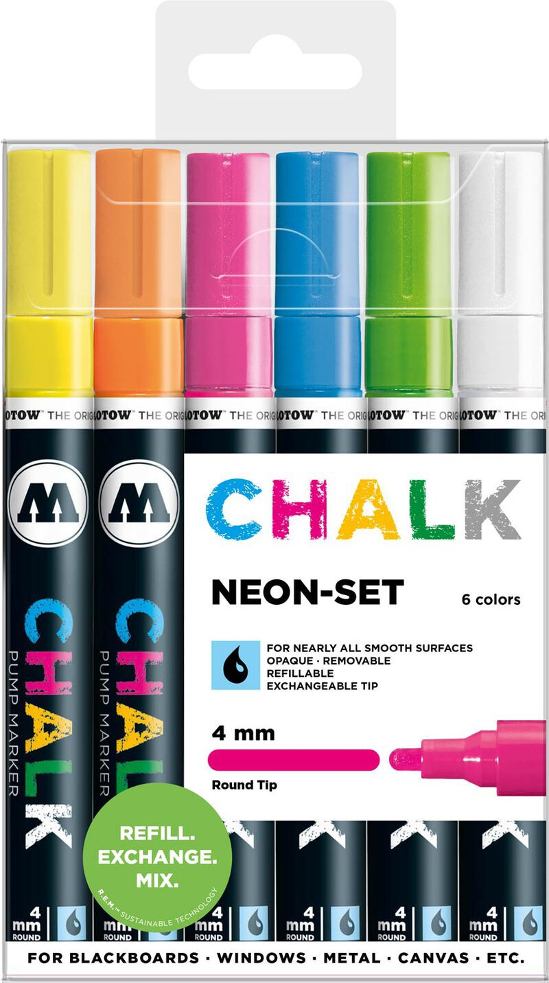 Chalk 4 mm Neon Set