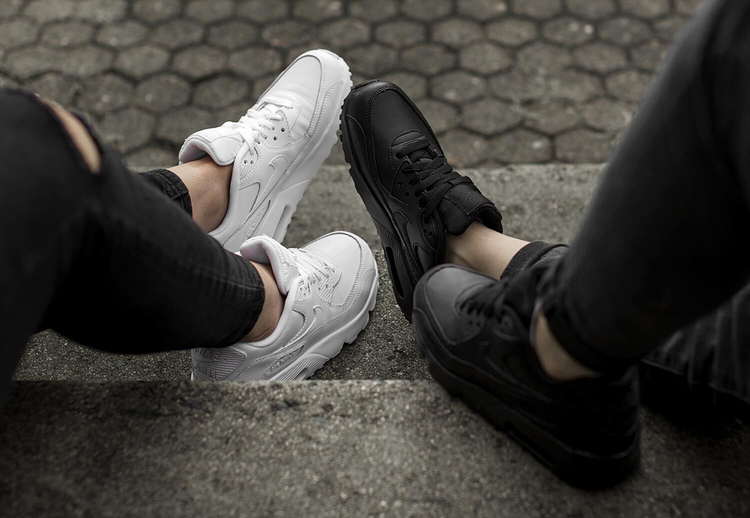 Air Max 90 Leather GS Baskets low Femmes chez Stylefile