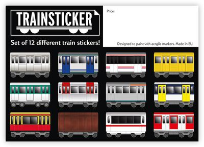 Trainsticker Set S (A7) 12 pcs