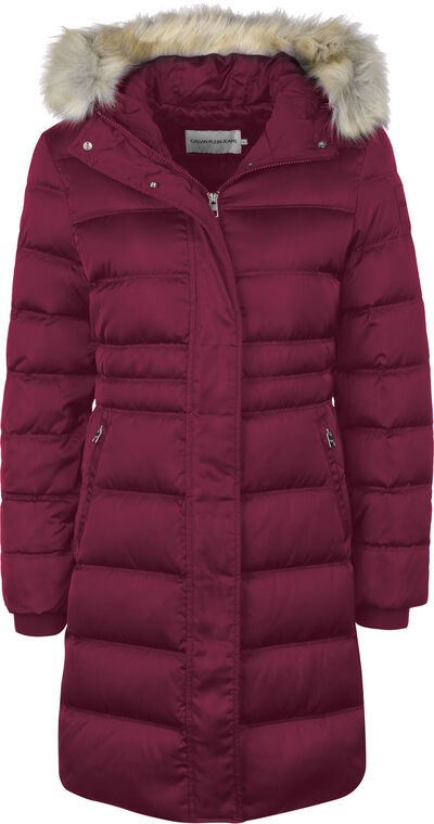 Down Long Nylon Puffer W