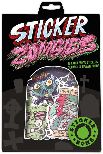 Sticker Bomb Zombies 12 pcs