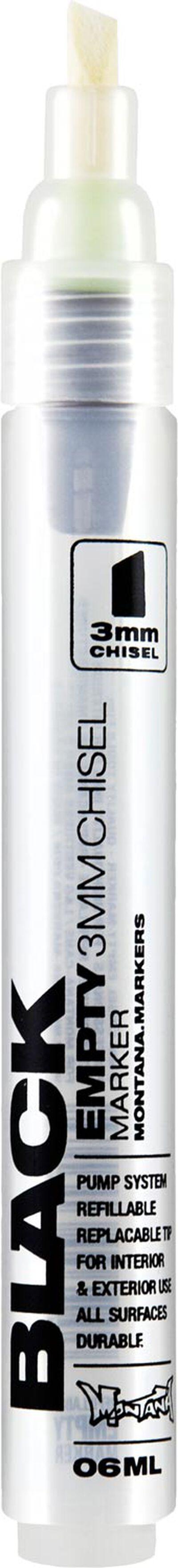 Black 3 mm Chisel