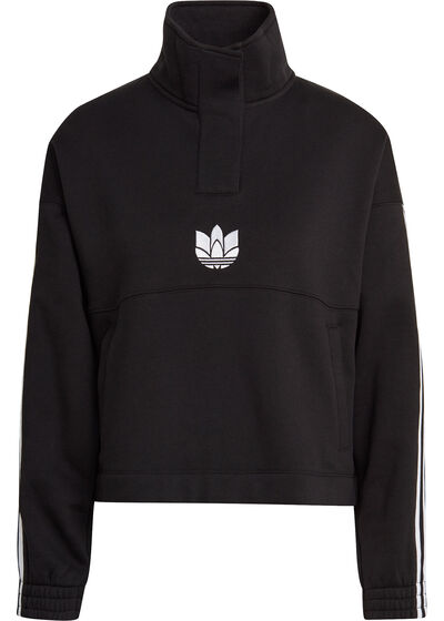 3D Trefoil Fleece Half-Zip