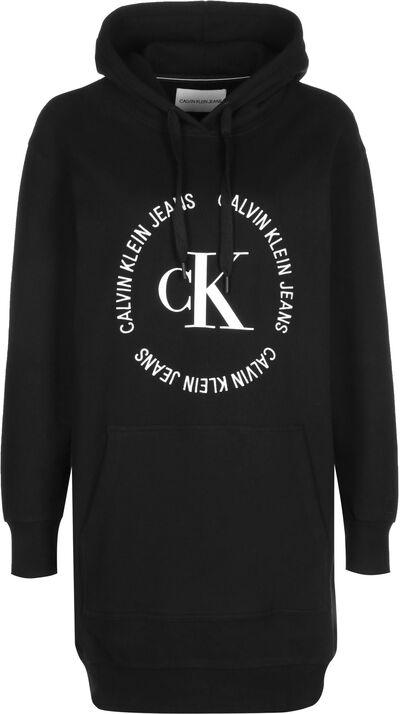 Logo-Sweatshirtkleid mit Kapuze