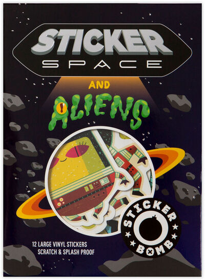 Sticker Bomb Space and Aliens 12pcs