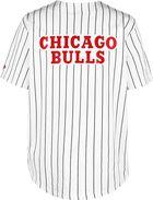 Bulls Pinstripe Baseball Jersey