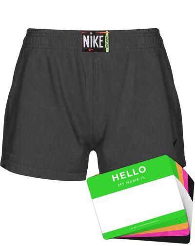 Nike Wash Shorts + HELLO Neon-Stickerpack   Black Pack