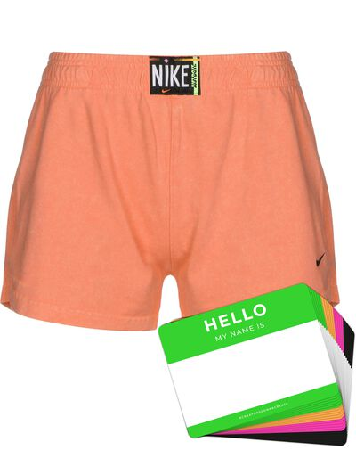 Nike Wash Shorts + HELLO Neon-Stickerpack   Orange Pack