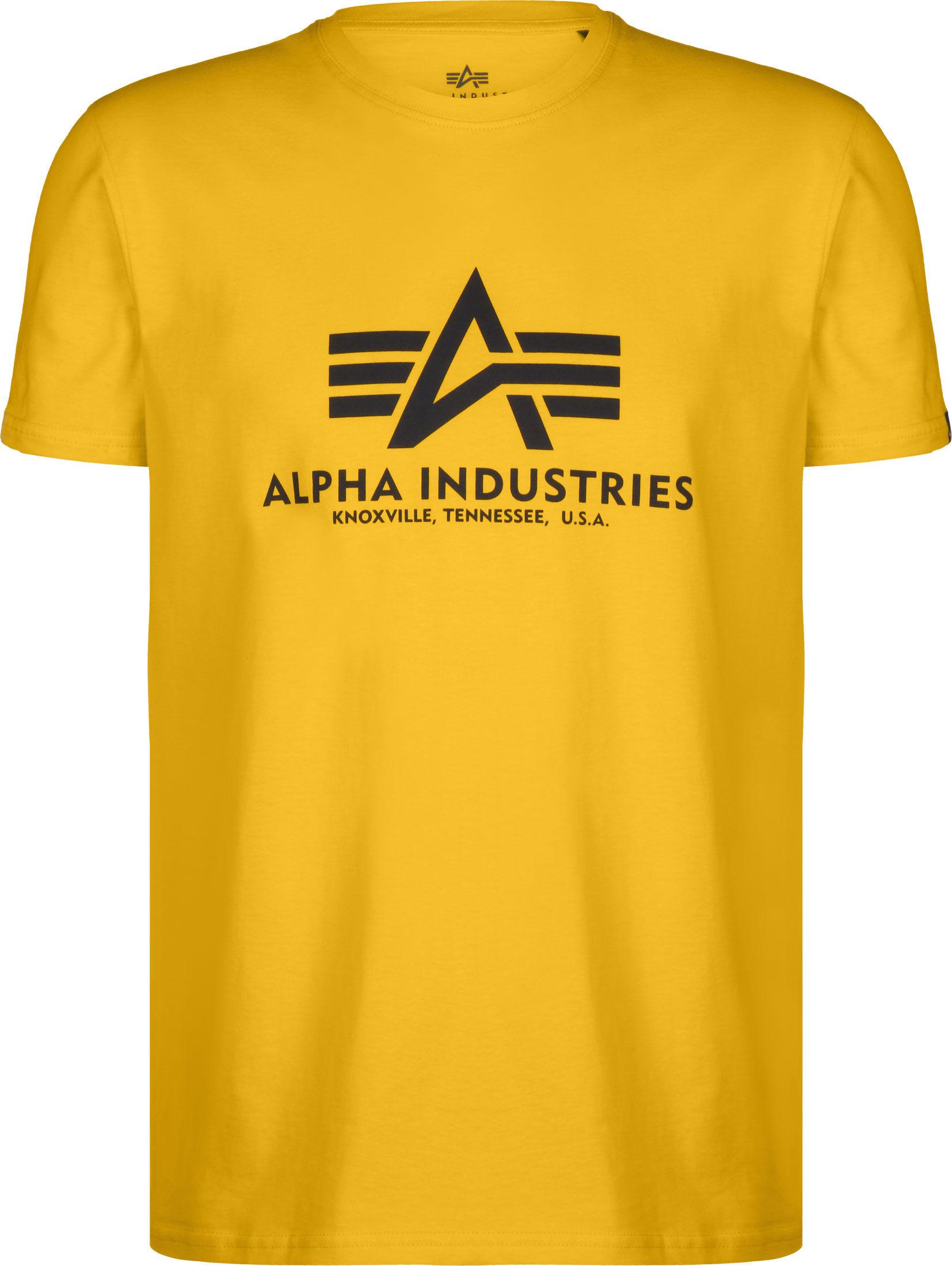T-shirt homme Alpha Industries Basic Logo Jaune T-Shirt