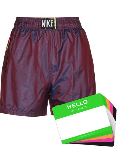 Nike Wash Shorts Woven + HELLO Neon-Stickerpack   Fuchsia Pack