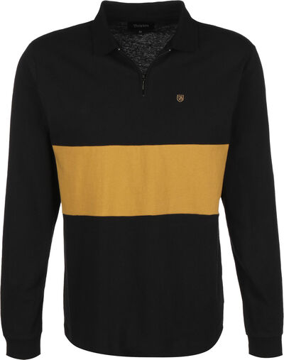HUNT 1/4 ZIP L/S POLO