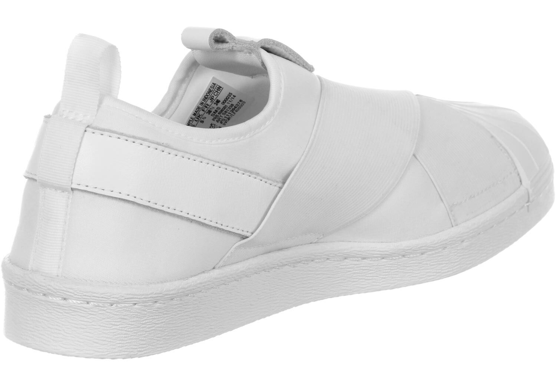 adidas slip on blanche