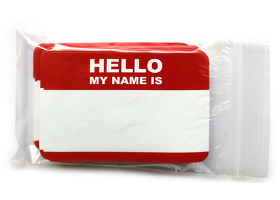 Hello my name is… 50 pcs