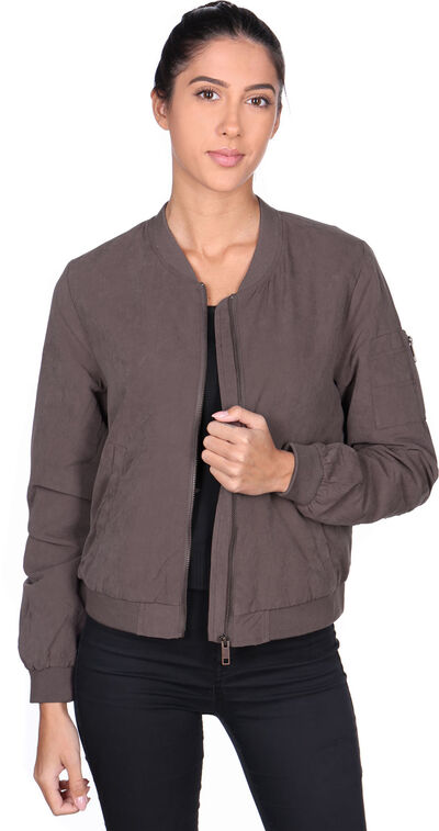 Lace Up Bomber W