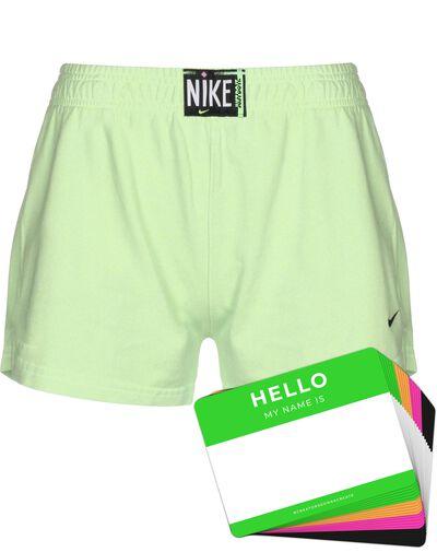 Nike Wash Shorts + HELLO Neon-Stickerpack   Green Pack