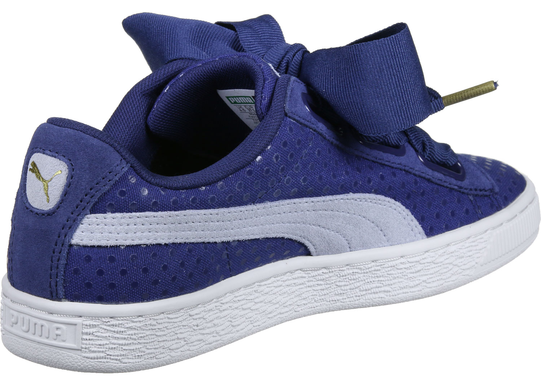 basket puma bleu
