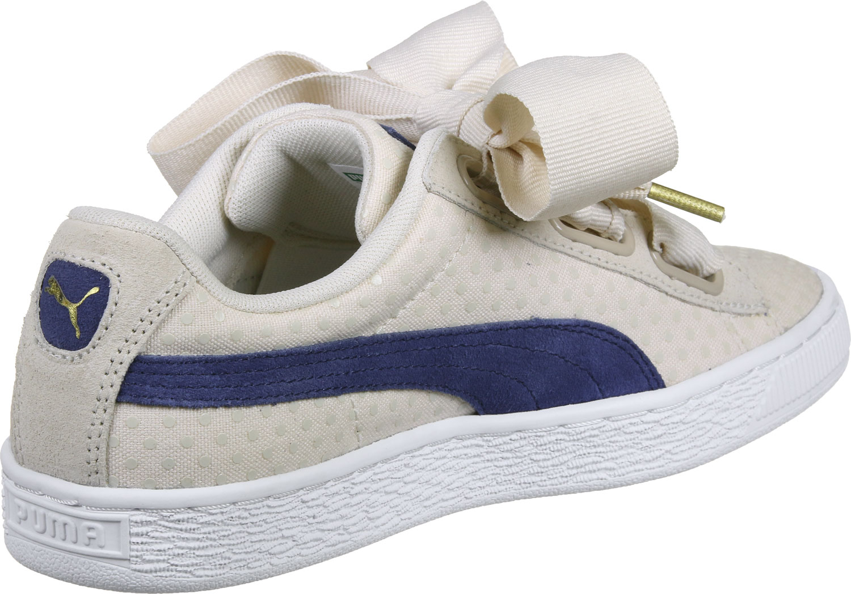 basket puma heart beige